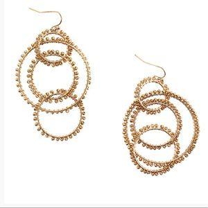 Gold Multi Bead Hoop Earrings